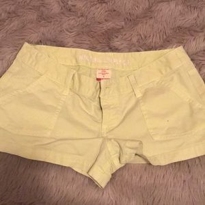 Lime green shorts size 5